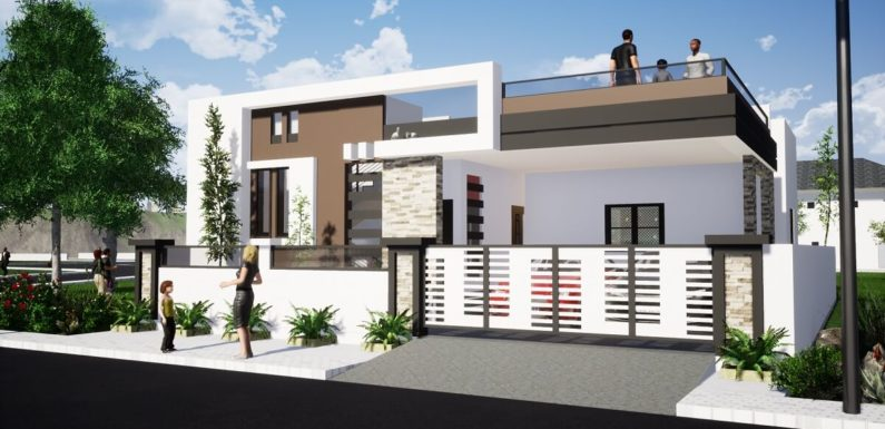 38'x52′ House Plan 4BHK Home Design