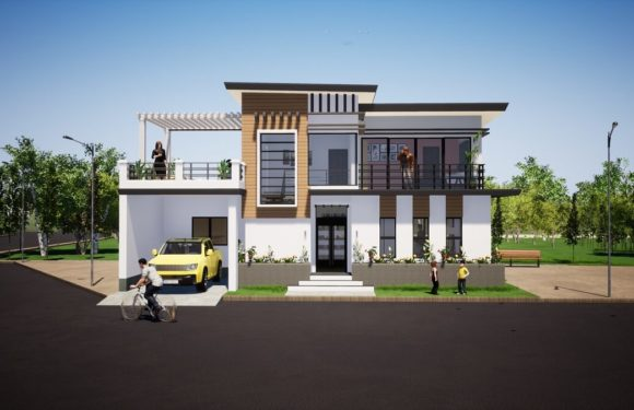 Home Design 46×52 feet with 4 Bedrooms Full Plan