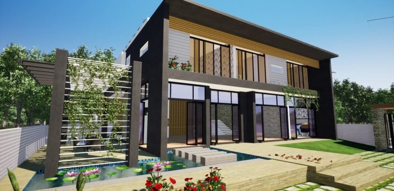 50'x38′ Feet Morden House Design with 5 Bedrooms Full Plan