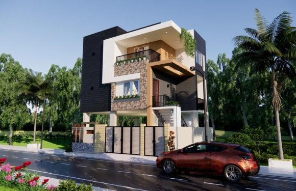 Small Morden House Design With Car Parking 3 Bedroom Size 30×30 Feet Complete Details