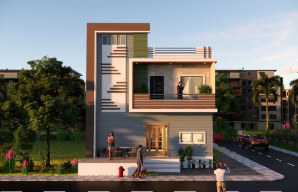 South Facing House 27×20 Feet Small Space House 540 Sqft With Front Elevation Full Walkthrough 2021