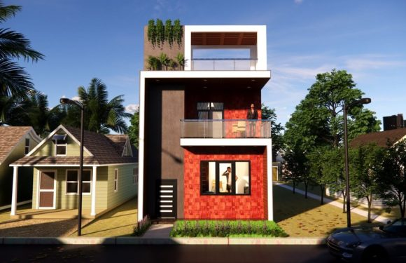 Small Space House 20×20 Feet 3BHK 400 SQF Low Budget House Design With Front Elevation Full Walkthrough 2021