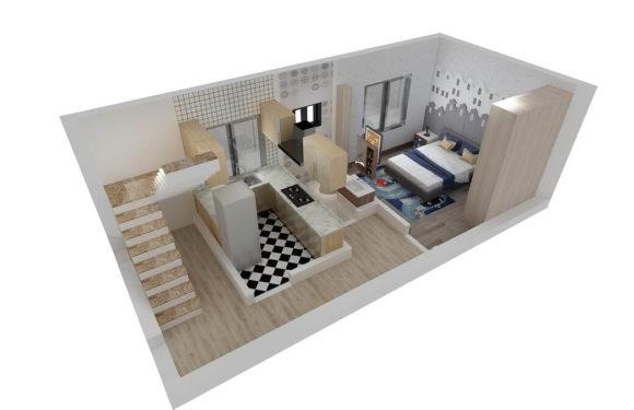 14×30 Feet Small House Design || 1 BHK Floor Plan With Interior Design Full Walkthrough 2021