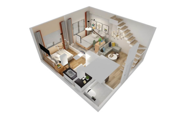 19×20 Feet Small Space House || 2BHK Interior Design Full Walkthrough 2021