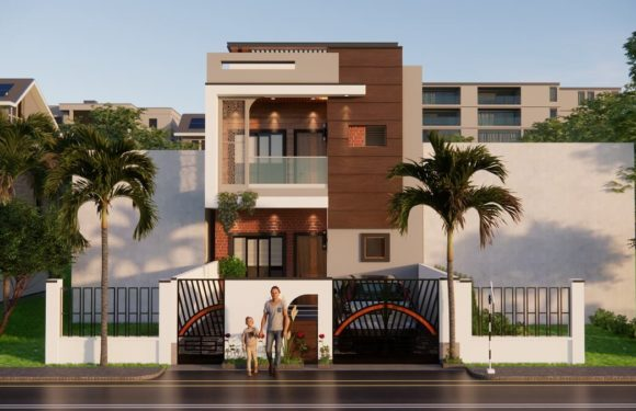 20×136 Feet House Design With Car Parking || Garden || 4 Master Bedroom Walkthrough 2021