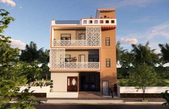3D House Design 31×32 Feet With Parking For Rent Purpose Walkthrough 2021